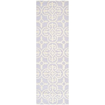 Marlen Lavender / Ivory Area Rug Rug Size: Runner 26 x 12