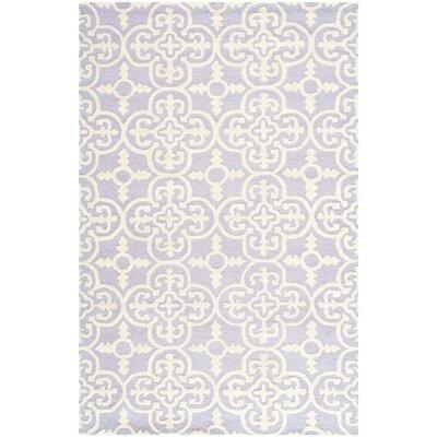 Martins Lavender / Ivory Area Rug Rug Size: 4 x 6