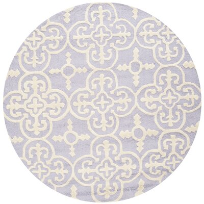 Marlen Lavender / Ivory Area Rug Rug Size: Rectangle 3 x 5