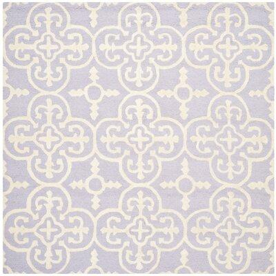 Marlen Lavender / Ivory Area Rug Rug Size: Square 6