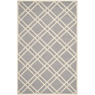 Martins Silver / Ivory Area Rug Rug Size: 26 x 4