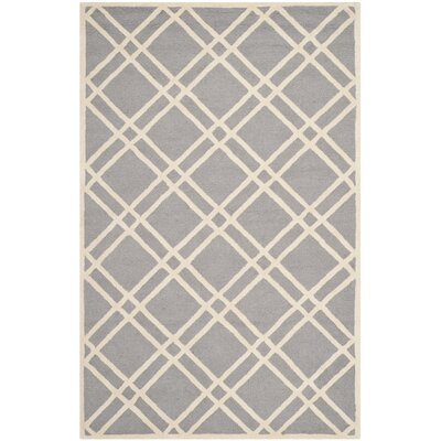 Martins Silver / Ivory Area Rug Rug Size: 9 x 12