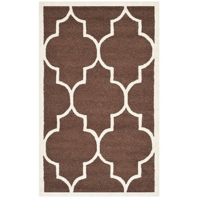 Charlenne Dark Brown Area Rug Rug Size: Rectangle 2 x 3
