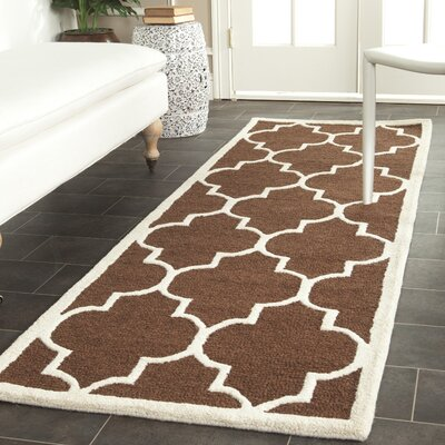 Charlenne Dark Brown Area Rug Rug Size: Runner 26 x 12