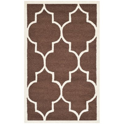 Charlenne Dark Brown Area Rug Rug Size: 3 x 5
