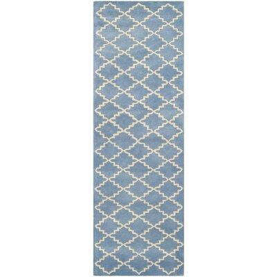 Wilkin Light Blue Rug Rug Size: Runner 23 x 7