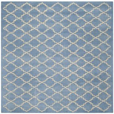 Wilkin Light Blue Rug Rug Size: Square 7