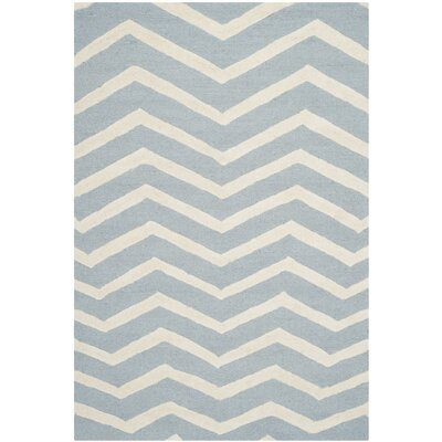 Charlene Hand-Tufted Wool Gray/Ivory Area Rug Rug Size: Rectangle 8 x 10