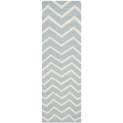 Charlenne Hand-Tufted Wool Gray/Ivory Area Rug Rug Size: Runner 26 x 8