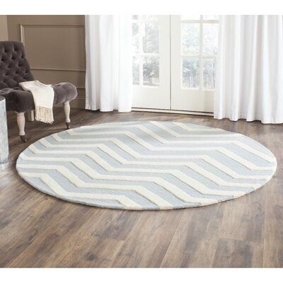Charlenne Hand-Tufted Wool Gray/Ivory Area Rug Rug Size: Rectangle 4 x 6