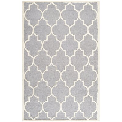 Martins Hand-Tufted Wool Gray/Ivory Area Rug Rug Size: Rectangle 3 x 5