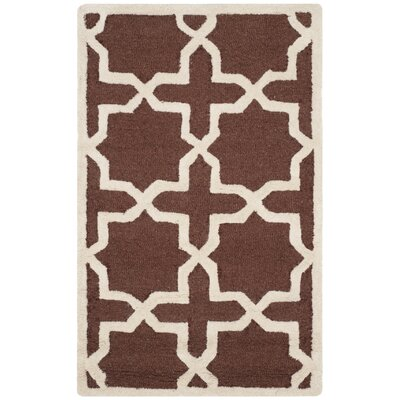 Brunswick Wool Brown/Ivory Area Rug Rug Size: Square 6