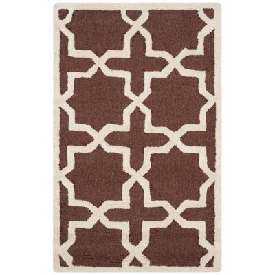 Martins Dark Brown Rug Rug Size: Runner 26 x 6