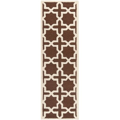 Martins Dark Brown Rug Rug Size: Runner 26 x 8