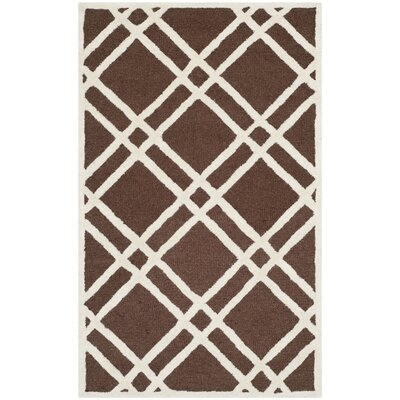 Martins Dark Brown Area Rug Rug Size: 3 x 5