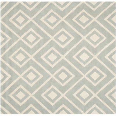 Wilkin Hand-Tufted Wool Gray/Ivory Rug Rug Size: Square 7