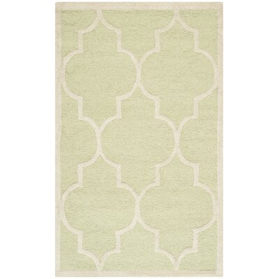 Charlenne Light Green / Ivory Area Rug Rug Size: 3 x 5