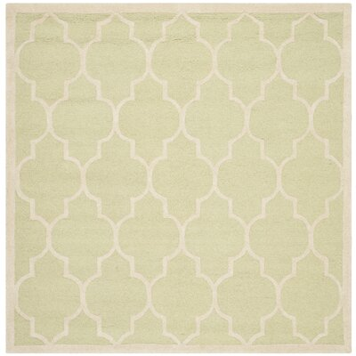 Charlenne Light Green / Ivory Area Rug Rug Size: Square 6