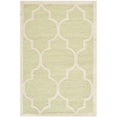 Charlenne Light Green / Ivory Area Rug Rug Size: 2 x 3