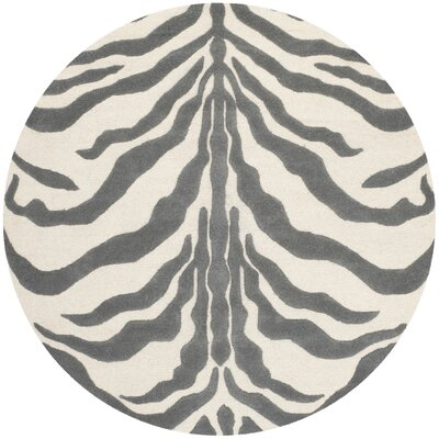 Roloff Ivory & Dark Gray Area Rug Rug Size: Rectangle 3 x 5