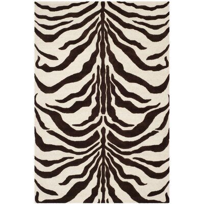 Martins Ivory/Brown Area Rug Rug Size: 6 x 9