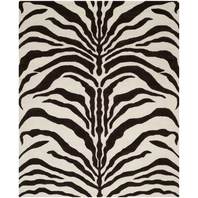 Martins Ivory/Brown Area Rug Rug Size: 8 x 10