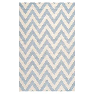 Charlenne Wool Light Blue/Ivory Area Rug Rug Size: 8 x 10