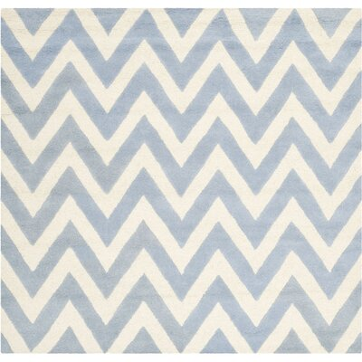 Martins Light Blue/Ivory Area Rug Rug Size: 8 x 8