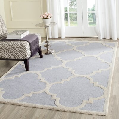 Charlenne Traditional Light Blue/Ivory Area Rug Rug Size: 6 x 9