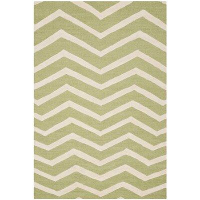 Charlenne Green/Ivory Area Rug Rug Size: 3 x 5