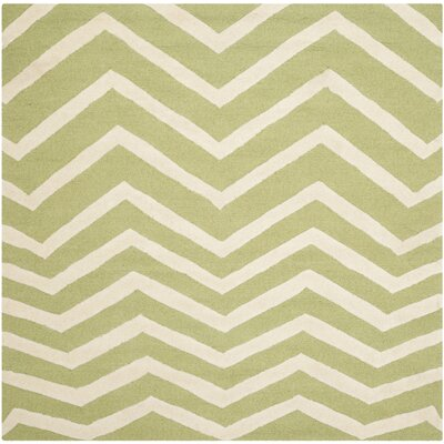 Charlenne Green/Ivory Area Rug Rug Size: Square 6