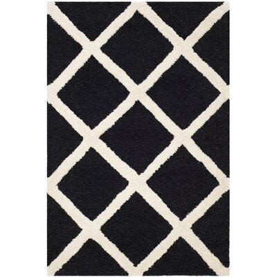 Martins Hand-Tufted Wool Black/White Area Rug Rug Size: Rectangle 2 x 3