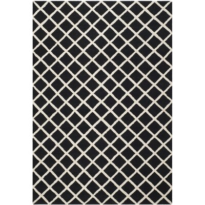 Martins Hand-Tufted Wool Black/White Area Rug Rug Size: Rectangle 6 x 9