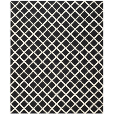 Martins Hand-Tufted Wool Black/White Area Rug Rug Size: Rectangle 8 x 10