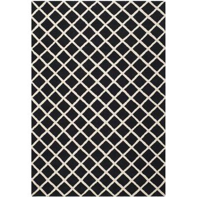 Martins Black Area Rug Rug Size: 6 x 9