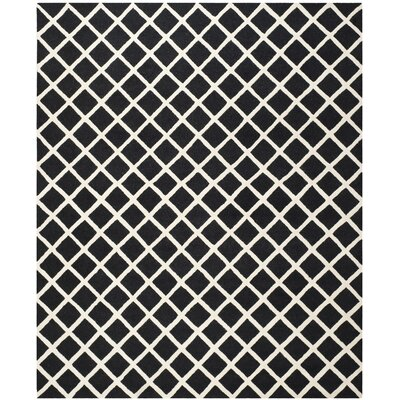 Martins Black Area Rug Rug Size: 8 x 10
