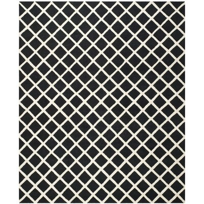 Martins Hand-Tufted Wool Black/White Area Rug Rug Size: Rectangle 9 x 12