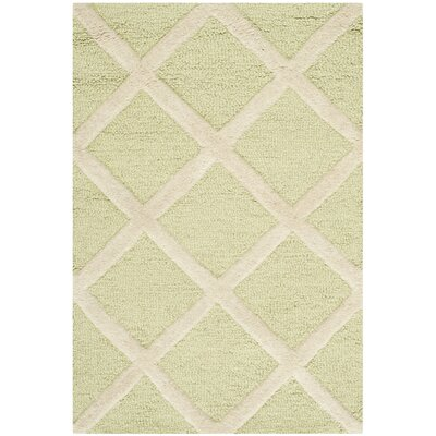 Martins Light Green & Ivory Area Rug Rug Size: 2 x 3