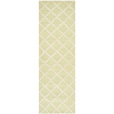 Martins Light Green & Ivory Area Rug Rug Size: Runner 26 x 12