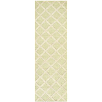 Martins Light Green & Ivory Area Rug Rug Size: Runner 26 x 8