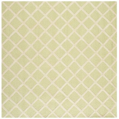 Martins Light Green & Ivory Area Rug Rug Size: Square 6