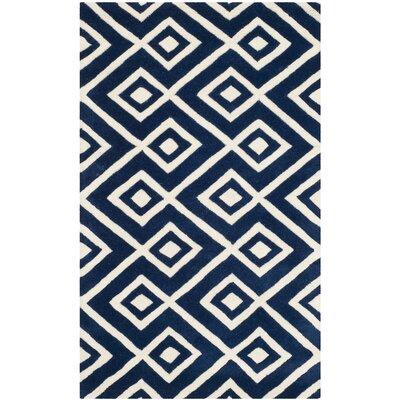 Wilkin Dark Blue Rug Rug Size: 2 x 3