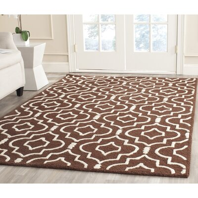 Martins Dark Brown Area Rug Rug Size: Rectangle 2 x 3