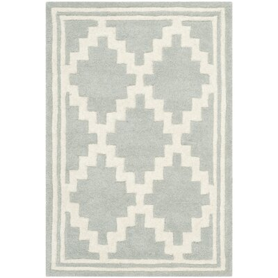 Wilkin Hand-Tufted Wool Gray Rug Rug Size: Rectangle 2 x 3