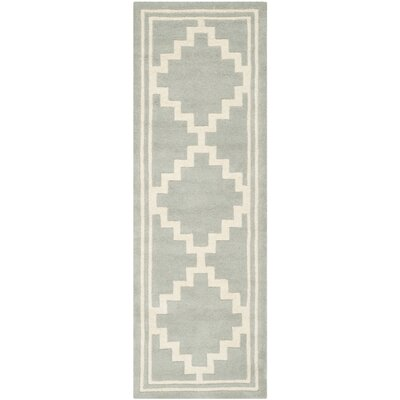 Wilkin Hand-Tufted Wool Gray Rug Rug Size: Runner 23 x 7