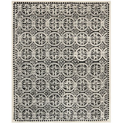 Fairburn Black/Ivory Area Rug Rug Size: Rectangle 8 x 10