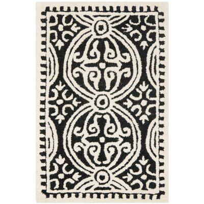 Martins Black Area Rug Rug Size: 2 x 3