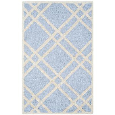 Martins Light Blue/Ivory Area Rug Rug Size: 26 x 4