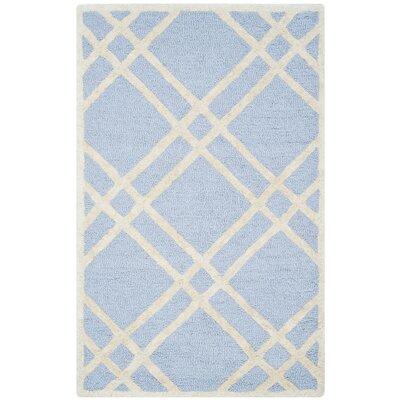 Martins Light Blue/Ivory Area Rug Rug Size: 9 x 12