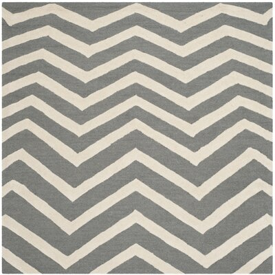 Charlenne Dark Gray Area Rug Rug Size: Square 6